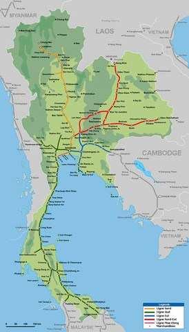 Les trains en Thaïlande - Réservations de billets en ligne